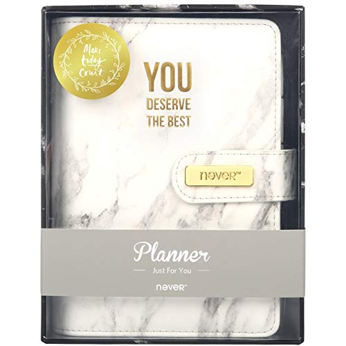 BKbjben Marble Series PU Leather Cover Binder Notebook Diary Agenda A6 Planner Organizer Office,Marble Notebook,A6