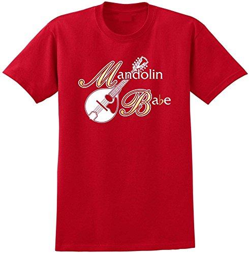Mandolin Babe - Red Rot T Shirt Größe 87cm 36in Small MusicaliTee