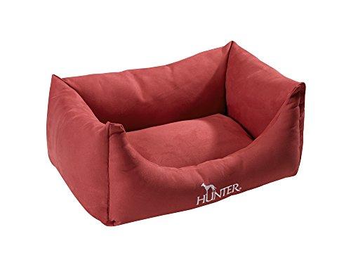 HUNTER Perro sofá Vicenza Antibacteriano Repelente al Agua/Suelo, tamaño Mediano, 80x 60cm, Rojo