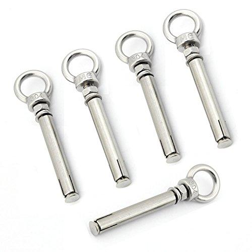 Yasorn 5-pack Anillo de acero inoxidable tornillos de cáncamo de expansión Tornillo...
