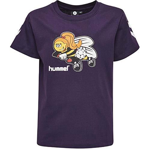 Hummel Mädchen HMLKEVYNEB S/S T-Shirt, BlackBerry Cordial, 104