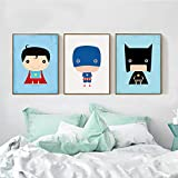 Swallow Moderne Superhero Toile Peinture de Bande Dessinée Superman Batman Art Prints Affiche Marvel Mur Décor Photos pour la décoration intérieure-50x70cmx3 pcs sans Cadre