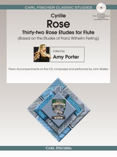 Thirty-two Rose Etudes for Flute (Based on the Etudes of Franz Whilhelm Ferling) by Franz Wilhelm Ferling John Walker (2011-09-15)