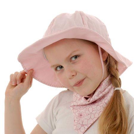 Baby-Sonnenhut mit Kinnriemen, Kordelzug, einstellbare Kopfgröße, atmungsaktiv, UV-Schutzfaktor 50+ (S: 0 - 9m, Rosa)
