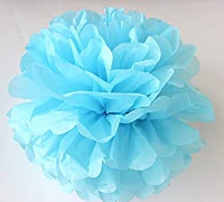 light blue, 6 inch 15cm : Frete Grtis 5 pcs 20 cm (8 polegada) Papel Tissue pom Poms Wedding Party pompom Flores Para Decorao De Casamento pompons de Papel pom pom