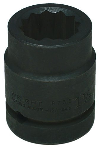 Wright Tool 8748 1-1/2-Inch with 1-Inch Drive 12 Point Standard Impact Sockets by Wright Tool (12-point Impact Sockets)