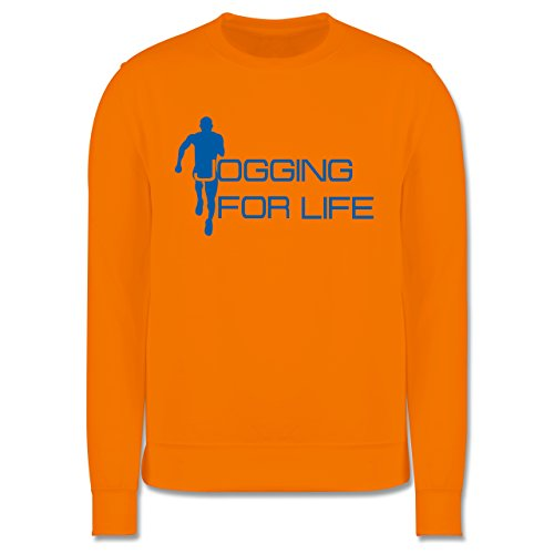 Laufsport - Jogging for Life - Herren Premium Pullover Orange