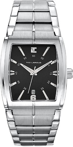 Ted Lapidus - 5100501 - Montre Homme - Quartz Analogique - Bracelet en Acier inoxydable Argent