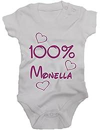 B0001 BODY NEONATO 100% MONELLA MAGLIA BAMBINA IDEA REGALO BY IDEAMAGLIETTA