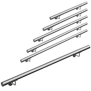 Edelstahl Handlauf Treppengeländer Geländer Wandhandlauf Wand Treppe 50-1000 cm V2Aox, Länge:160 cm
