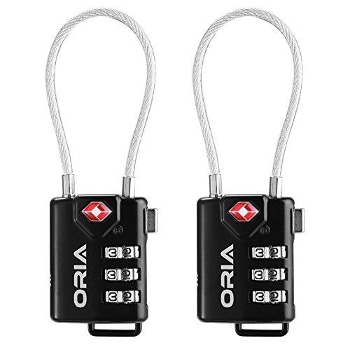 Preisvergleich Produktbild Oria VE-HA31 TSA Approved Reiseschlösser Kofferschloss, 2er-Pack
