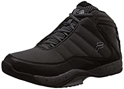 Fila Mens Sweeper 2 Castle Rock, Black and Metalic Silver Basketball Shoes -7 UK/India (41 EU)