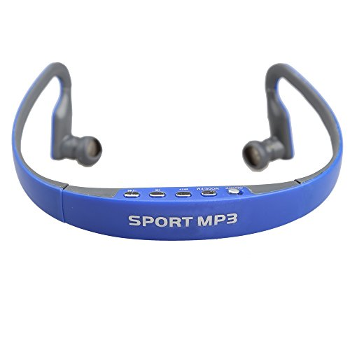 Demiawaking Sport Kopfhörer Headset Musik-MP3-Player TF-Karte FM Radio (Blau)