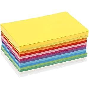 Art-Manufacture-Design - Cartoncino colorato, in formato A6, 10,5 x 15 cm, 120 fogli in colori assortiti