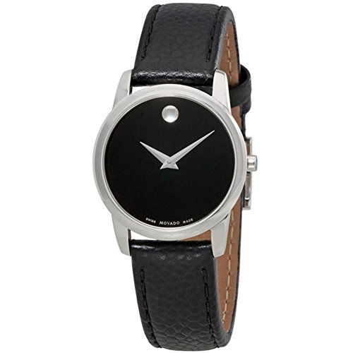 MOVADO WOMEN'S MUSEUM CLASSIC 28MM LEATHER BAND SWISS QUARTZ WATCH 0607015