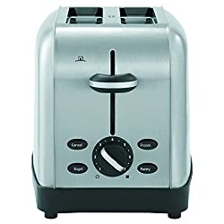 Silver : Oster TSSTTRWF2S Brushed Stainless Steel 2-Slice Toaster