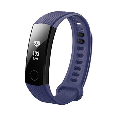 YBWZH Sport silikon Armband Armband für Huawei Honor 3 smart Watch Uhrenarmband Ersatzband Ersatz Uhren-Armband(Marine)