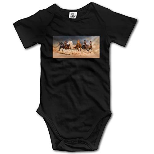 Louis Berry Pferd, Baby Kurzarm Strampler Baby Body Neugeborenen Overall Strampler Cotton Striped Sleeper