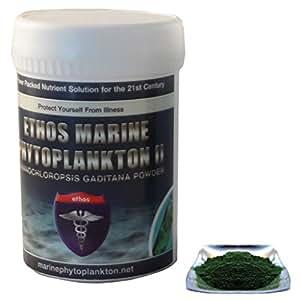 Ethos - Phytoplancton marin 100 % naturel - poudre de Nannochloropsis Gaditana - 30 g - 100 % pure et organique - protégez votre corps et réparez vos cellules avec le meilleur produit santé Ethos