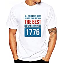 c88e27346c LEORTKS Camiseta Hombre Moda Cartas Impresión Camiseta Verano Sencillo  Holgado Cómodo Camiseta Color Sólido Casual Manga