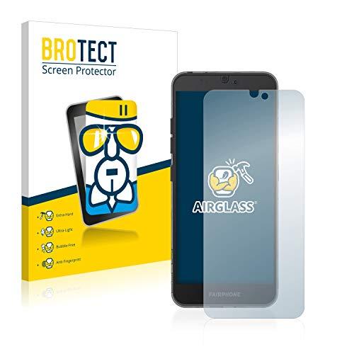 brotect pellicola protettiva vetro compatibile con fairphone 3 schermo protezione durezza 9h, anti-impronte, airglass