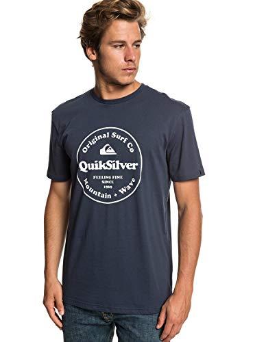 T-shirt pour homme. Les caractéristiques produit sont les suivantes : jersey de coton léger [160 g/m2], coupe regular, classique et confortable, col rond, imprimé sérigraphié sur la poitrine et étiquette Quiksilver.