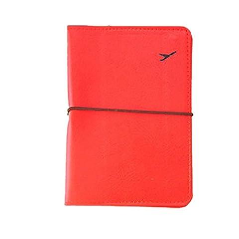 Porte Passeport, Kolylong® Nouveau Titulaire De Carte-Passeport En Cuir Wallet Case Voyage Protecteur Sac (Rouge)