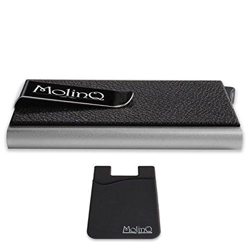 4cbe05db94 Porta carte di credito con clip per banconote | Custodia in alluminio  (Argento) di