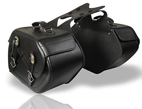 TOOGOO Harley Motorrad Tasche R 2x Universal Motorrad Tasche motorrad Satteltaschen Tasche fuer Harley Schwarz