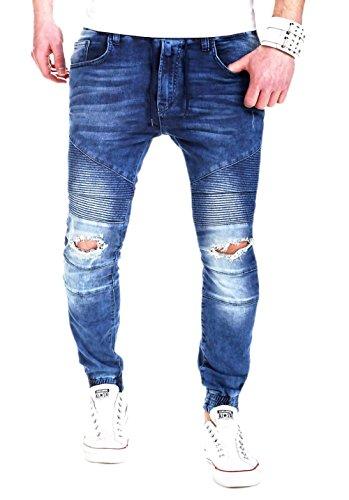 MYTRENDS Styles MT Styles Jogg-Jeans Biker RJ-2082  Blau, W40  356f147946