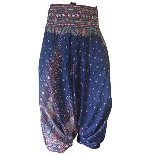 Zigeuner Dunkle Kostüm - PANASIAM Aladin Pants, Print-Design-Style: Peacock v05