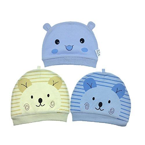 3 Stücke Baby Mütze Neugeborene Unisex Mützchen 100% Baumwolle Hüte - Tyidalin Gestreifte Beanie Babymütze Kleine Raupe Geburtsgeschenk Für 0-6 Monaten Mädchen Jungen