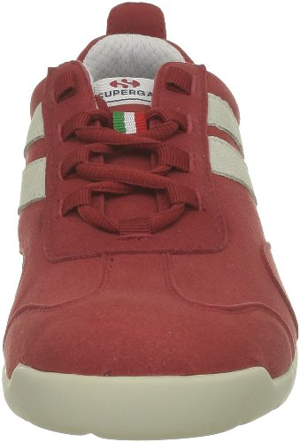 Superga 2885 Roma Matchrace New S002PS0 Herren Sneaker Weiß (A84 Red-White)