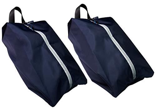 TRAVANDO ® Schuhtasche 2er Set - Wasserfeste Schuhbeutel Reise, Koffer, Gepäck - Schmutzabweisender Schuhsack Reise für Schuhe, Urlaub Shoebag Tasche zur Trennung von Schuhen und Kleidung Reisezubehör -