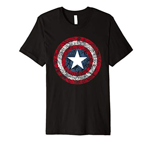 Marvel Captain America Avengers Shield Comic Graphic T-Shirt (Kinder Captain America-shield)