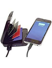 Glive's Portable E-Charge ATM Credit Card Holder Wallet Deluxe Power Bank And Credit Card Case
