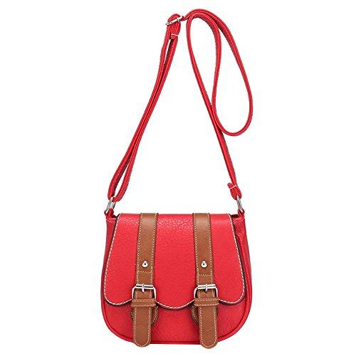 Retro Moda Donna Ragazza Borsa a Tracolla Vintage Borse a Spalla Borsa a Mano Borsetta Anguria rossa