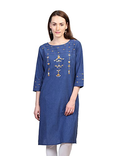 Fabindia Women's Cotton A-line Medium Kurta