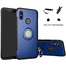 Labanema Xiaomi Mi 8 Funda, 360 Rotating Ring Grip Stand Holder Capa TPU + PC