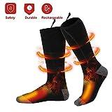Calcetines calentados eléctricos recargables de calienta-calcetines cómodos con pilas, calcetines termales del tiempo frío que acampan yendo de excursión al aire libre calcetines calientes del inviern