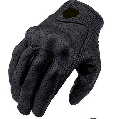 Berrd Guanti da moto in pelle alla moda Armature protettive Guanti corti da S a 2xl Full Finger Non porosi Alta qualità Equitazione Clear XL