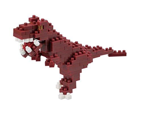 nanoblock NBC-111 - Tyrannosaurus, Minibaustein 3D-Puzzle, Mini Collection Serie, 110 Teile, Schwierigkeitsstufe 2, mittel - Mini 110 Serie