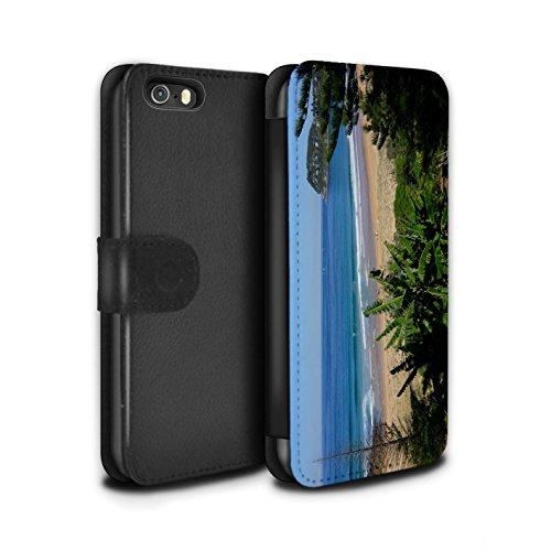 Stuff4 Coque/Etui/Housse Cuir PU Case/Cover pour Apple iPhone 5/5S / Bateaux Design / Côte de la Colombie Collection Plage