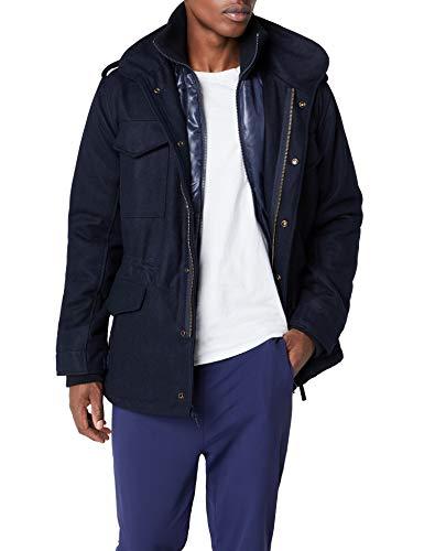 Brandit Herren M65 Voyager Wool Jacke, Blau (Navy 8), X-Large Navy Pea Coat