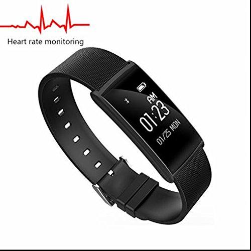 Fitness Armbanduhr Activity Tracker Sport Bracelet,Herzfrequenz-Messgerät,Sitzender Alarm,Kalorienzähler,Pedometer,Fitness Tracker Aktivitätstracker für Android Smartphones und IOS iPhones