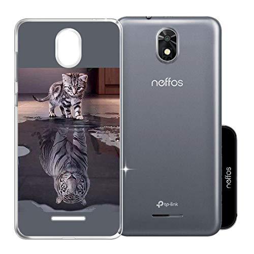 ZXLZKQ Schutzhülle Schale Katze & Tiger für TP-Link Neffos C5 Plus (5.34