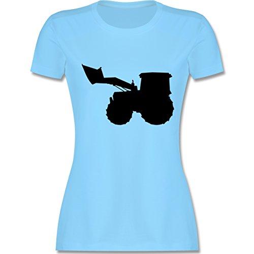 Andere Fahrzeuge - Traktor - tailliertes Premium T-Shirt mit Rundhalsausschnitt für Damen Hellblau