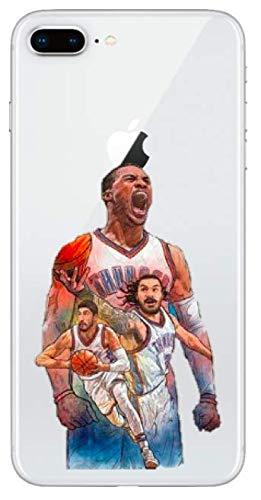�r iPhone 7+ Plus/iPhone 8+ Plus Russell Westbrook Thunder Oklahoma City 0 OKC Basketball NBA Soft Silikon ()