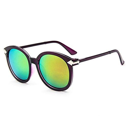 Z-P retro wayfarer fashion radiation reflective UV400 arrow sunglasses 56MM for women