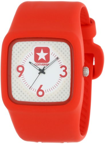 Converse VR030-660 Men's Clocked II Red Resin Strap Watch (Converse Uhr)